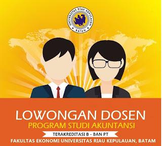 Lowongan Dosen Program Studi Akuntansi Faklutas Ekonomi UNRIKA