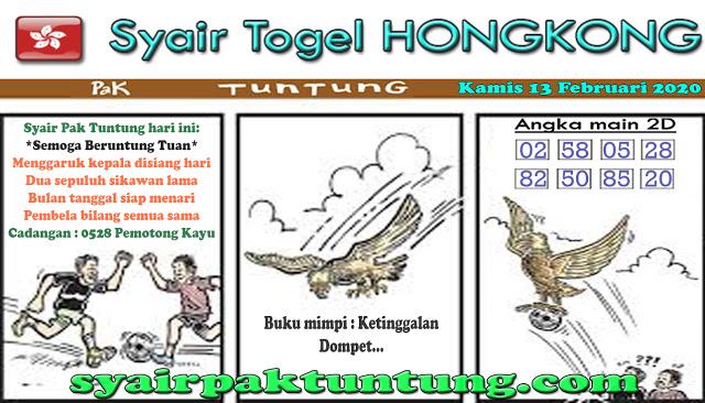 Prediksi Togel Hongkong 13 Februari 2020 Syair Pak Tuntung