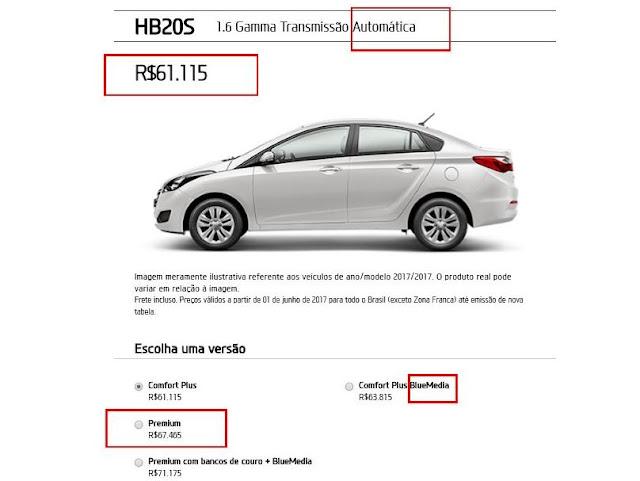 Hyundai HB20S Automático