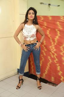 Deekshita Parvathi in a short crop top and Denim Jeans Spicy Pics Beautiful Actress Deekshita Parvathi January 2017 CelebxNext (73).JPG