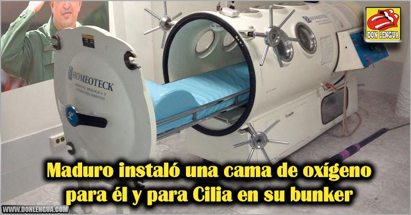 Maduro instaló una cama de oxígeno para él y para Cilia en su bunker