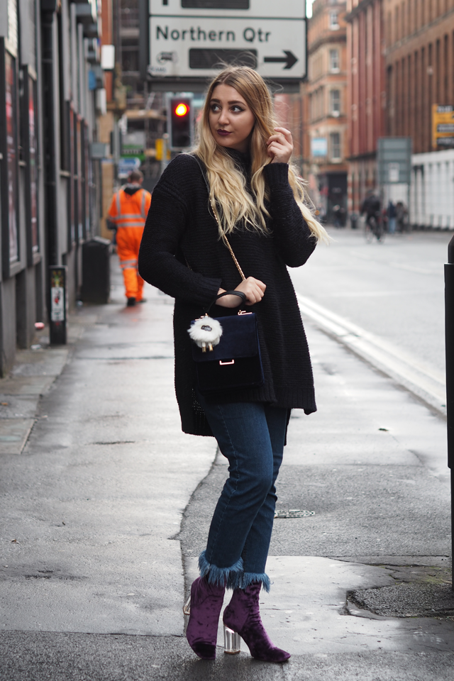 oversized jumper dress fashion blog
