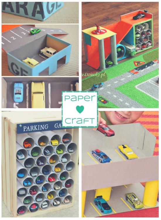 Assez Macchinine, piste e garage da costruire con la carta | Creare con  VT48