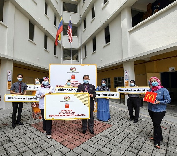 McDonald's Malaysia contributes COVID-19 prevention messages in schools