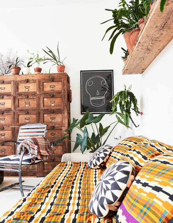 deco ideas boho style plants