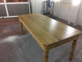 tafel zandstralen