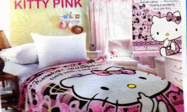 Sprei Kintakun Sprei Kendra Selimut Bed Cover Sprei Hello Kitty