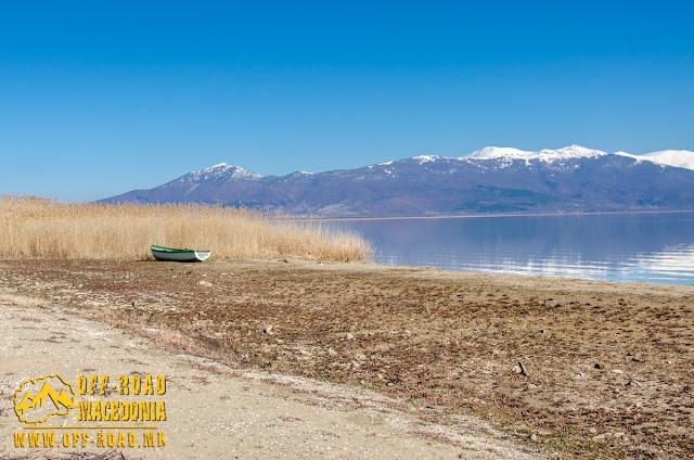 View toward Baba Mountain and Prespa Lake from Oteshevo, Prespa Lake, Macedonia