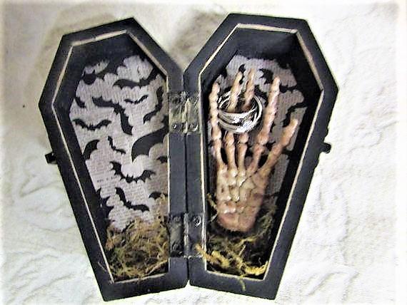 Ring coffin box idea- wedding theme-wedding event-Weddings by K'Mich-Philadelphia PA
