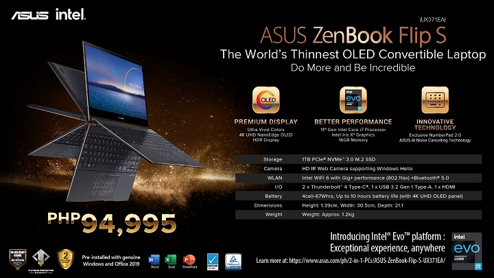 ASUS ZenBook Flip S 11th Gen Intel Core