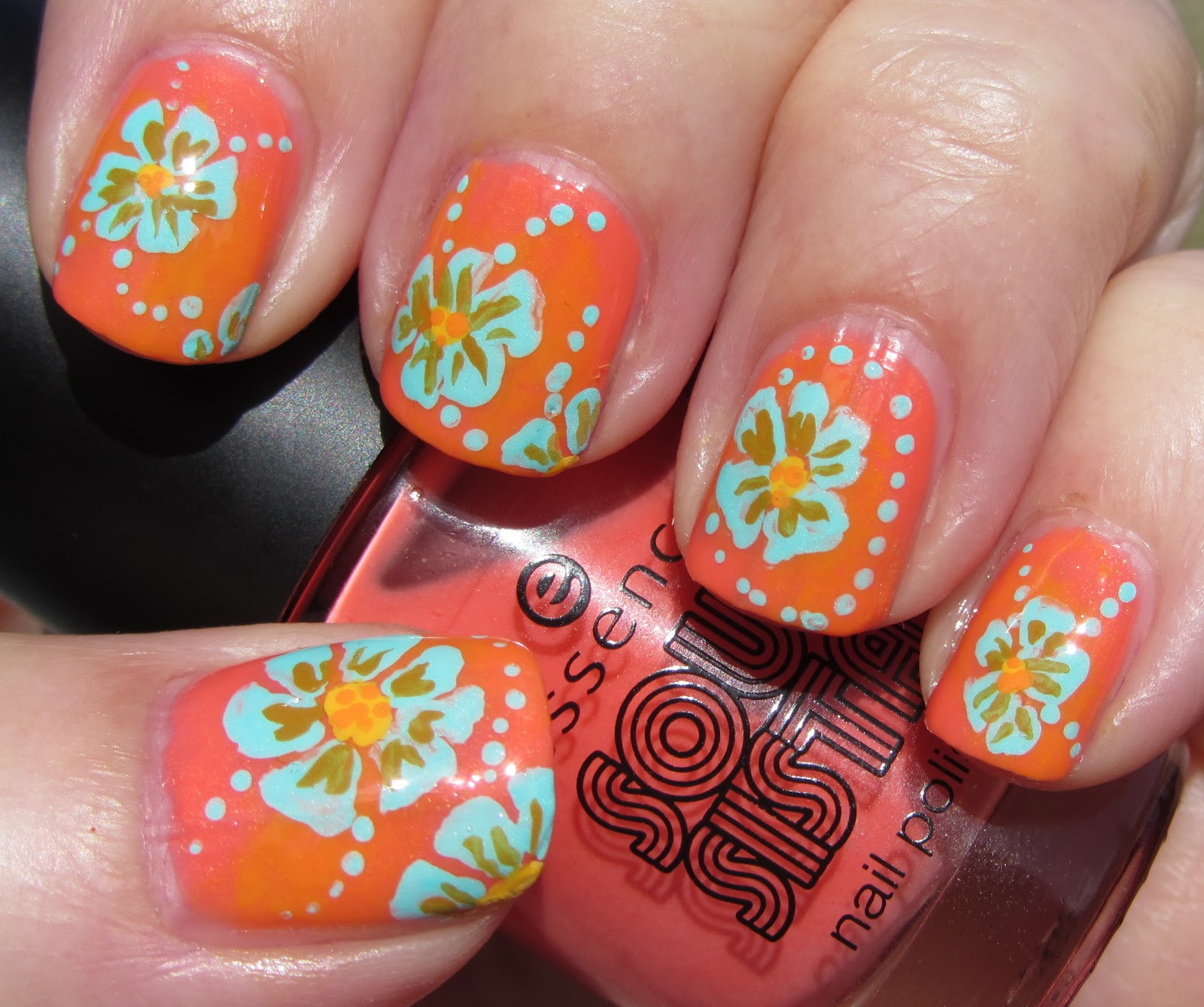 Nail Art Lounge: Marias Nail Art And Polish Blog: Lounge Chair Flowers