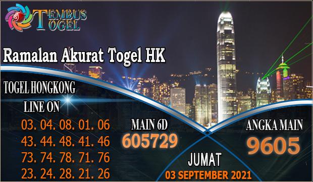 Ramalan Akurat Togel HK, Jumat 03 September 2021 Tembus Togel