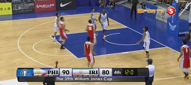 Gilas Pilipinas def. Iran, 90-82 (REPLAY VIDEO) Jones Cup 2017