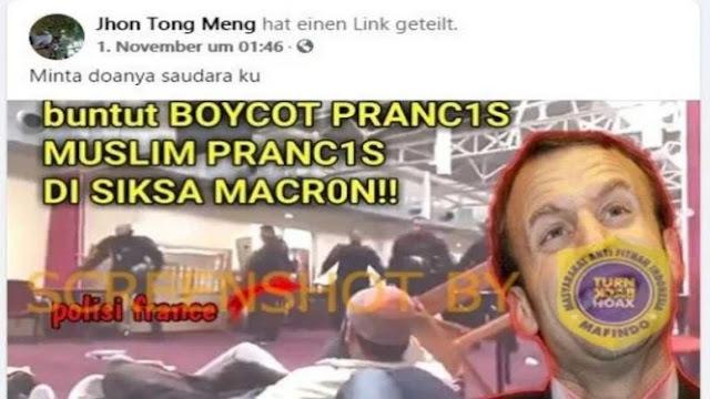 Buntut dari Aksi Boikot, Muslim Prancis Disiksa Macron, Cek Faktanya