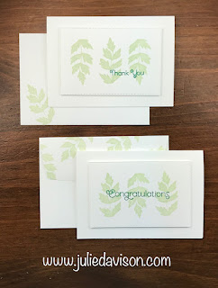 VIDEO: Stampin' Up! Everything is Rosy Clean & Simple Notecards ~ www.juliedavison.com