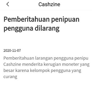 Kerugian Cashzine