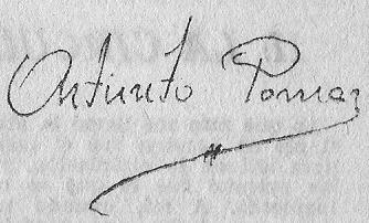 Firma de Arturito Pomar