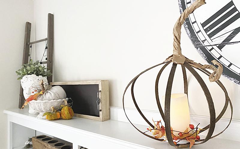 Repurposed and Recycled Pumpkin Lantern