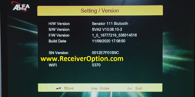 SENATOR 111 BLUTOOTH 1506TV NEW SOFTWARE WITH ECAST & ALFA PRO OPTION