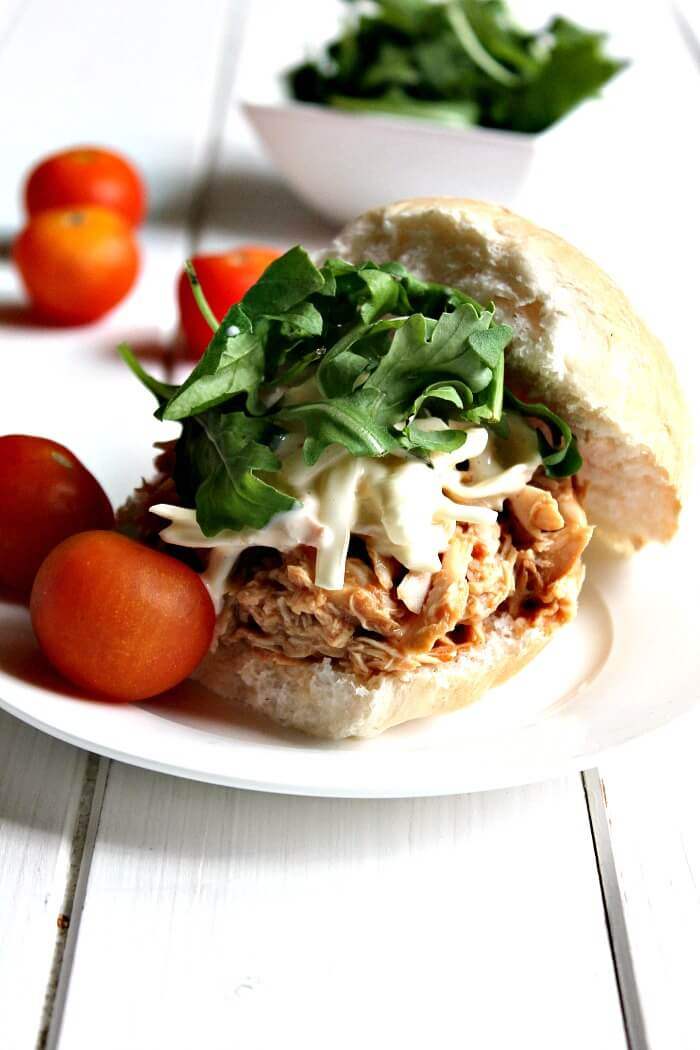 BBQ Pulled Chicken in a roll