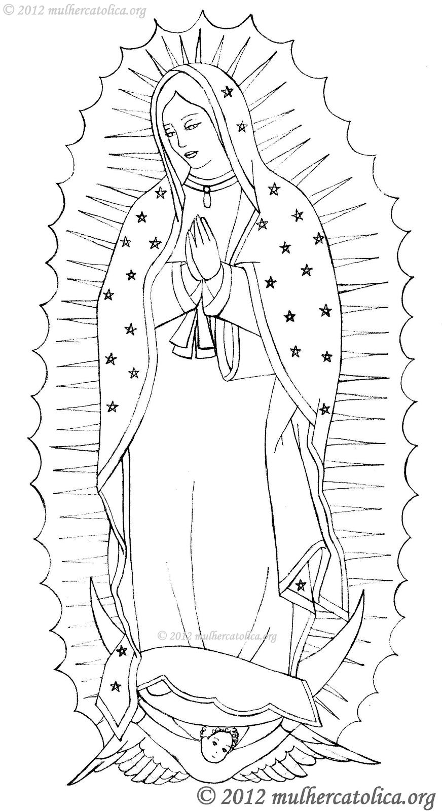 Desenho para colorir de Nossa Senhora de Guadalupe