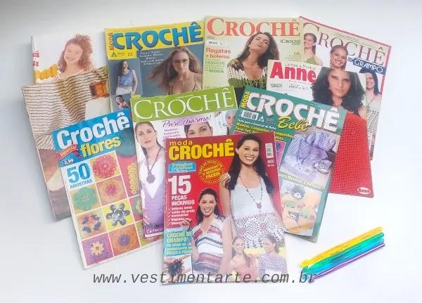 revistas crochê anos 1990 e 2000