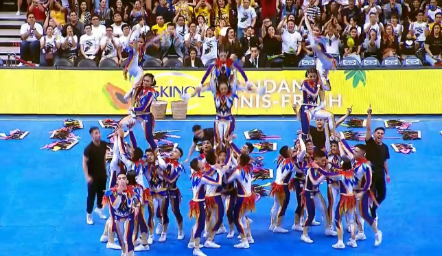 NU Pep Squad shows Pinoy pride as they awed the crowd with jaw-dropping tosses and impressive pyramids.