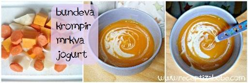 Bundeva, krompir, mrkva i jogurt za bebe