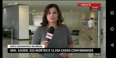 Brasil chega a 553 mortes e 12 mil casos confirmados de coronavírus, diz ministério