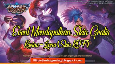 Skin Epic Karina - Loena Gratis Tanpa Diamond (Event KOF) Terbaru Mobile Legends