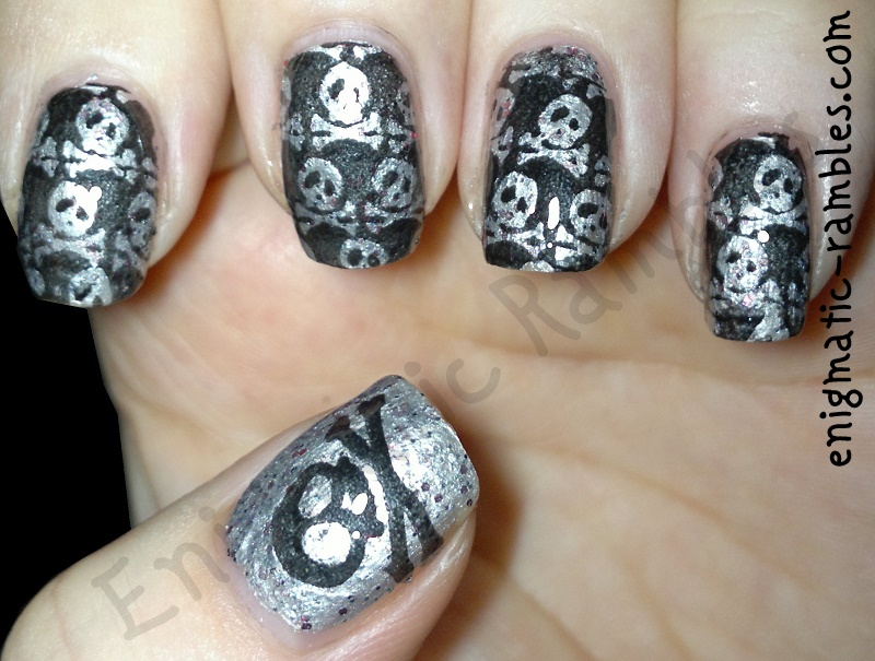 sarahsmiles-we'll-have-the-best-stories-to-tell-qa8-qa5-skull-skulls-bad-ass-stamped-stamping-nails-nail-art