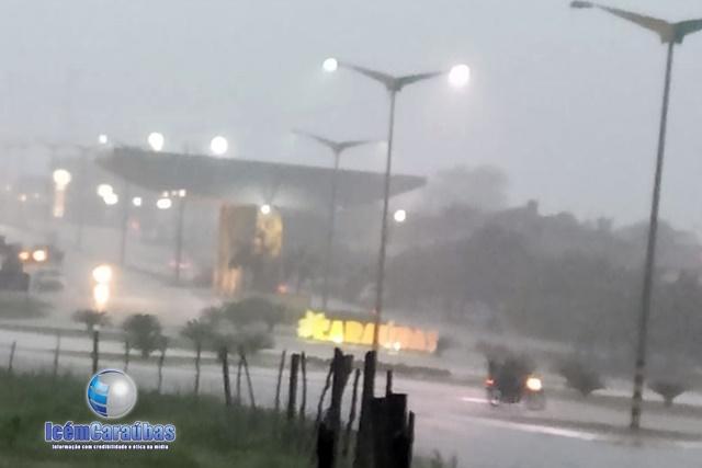 Forte chuva da noite de ontem para madrugada de hoje foi registrada em Caraúbas, RN; veja quantos milímetros