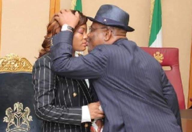 Lover boy Gov Wike kisses wife in public