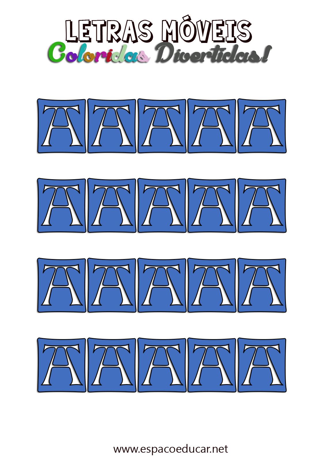 Letras Moveis Coloridas Divertidas Para Imprimir Recortar E