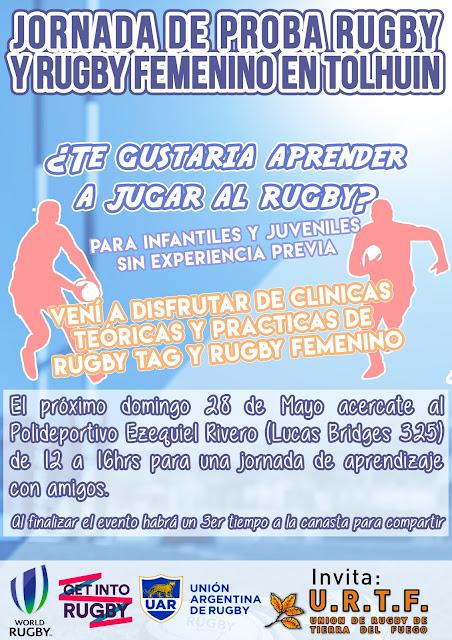 Jornada de Proba Rugby y Rugby Femenino en Tolhuin