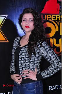 Actress Mannara Chopra Stills in Jeans at Sparx 2017 Curtain Raiser Event  0139.JPG
