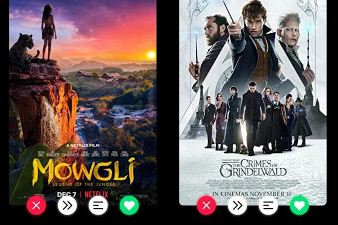 Movie swiper, a tinder-style app that will help you choose which movie to watch with your friends