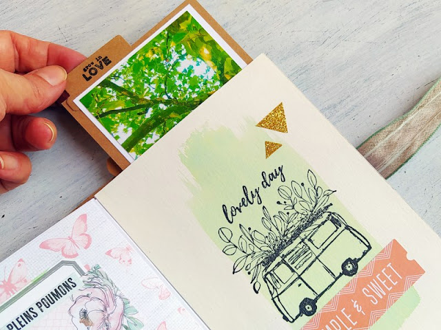 Scrapbooking: Mini album realizzato con le buste - Envelope Mini Album Flipbook Tutorial
