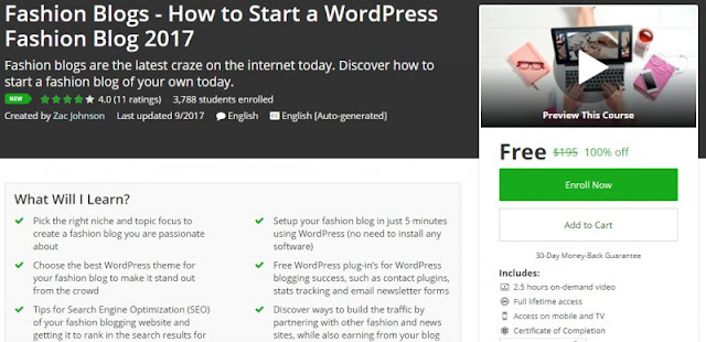 [100% Off] Fashion Blogs - How to Start a WordPress Fashion Blog 2017| Worth 195$