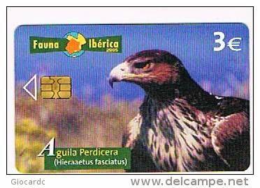 Tarjeta telefónica Águila perdicera (Hieraetus fasciatus)