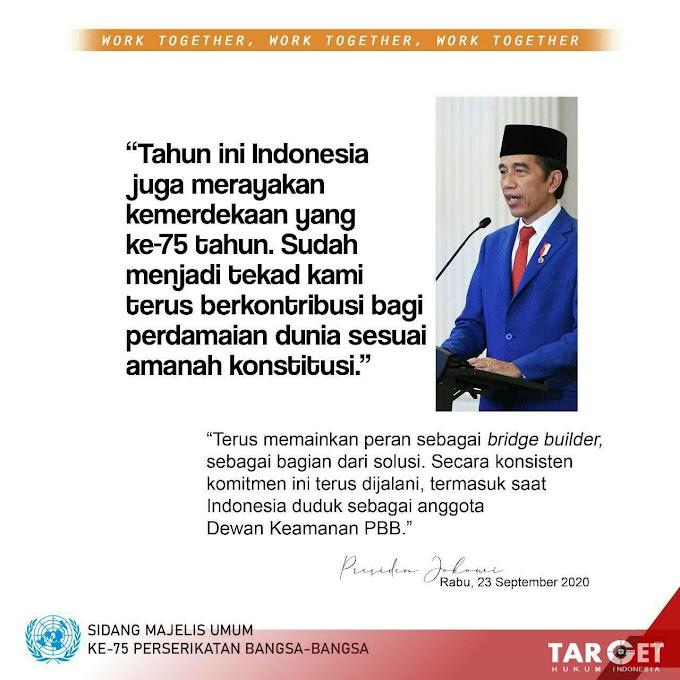 Presiden Jokowi Sampaikan Pidato Pada Sidang Majelis Umum ke 75 PBB