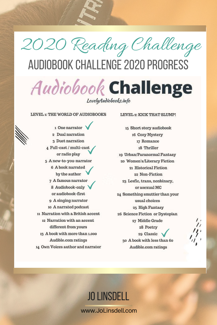2020 Challenges: February Update The Audiobook Challenge 2020