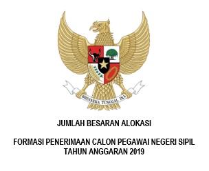 Alokasi Formasi Calon Pegawai Negeri Sipil 2019