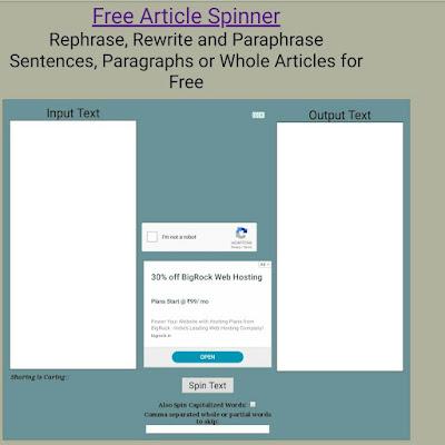 Article को spin कैसे करें,free article spinner