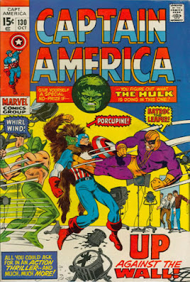 Captain Amerca #130, Batroc, Porcupine and Whirlwind
