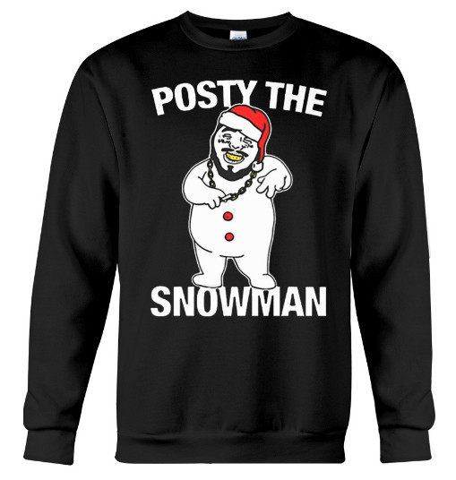 Posty The Snowman Merry Christmas Santa Malone, Posty The Snowman Merry Christmas Post Malone, Posty The Snowman Merry Christmas Post Malone Hoodie