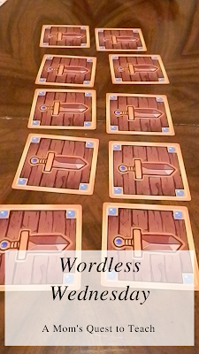 cards from Dungeon Drop; A Mom's Quest to Teach: Wordless Wednesday