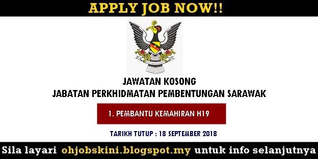 Jawatan Kosong Jabatan Perkhidmatan Pembetungan Sarawak