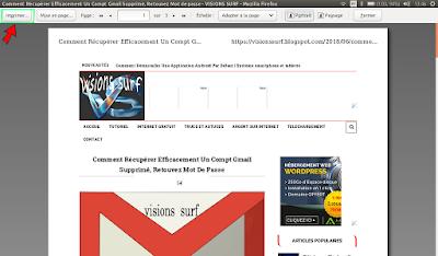 enregistrement des pages web en pdf dans firefox
