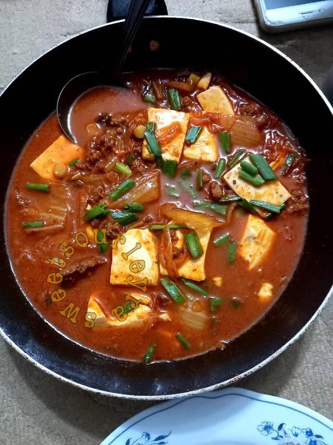 Resepi Kimchi Jjigae Masakan Korea Yang Sedap Dan Mudah